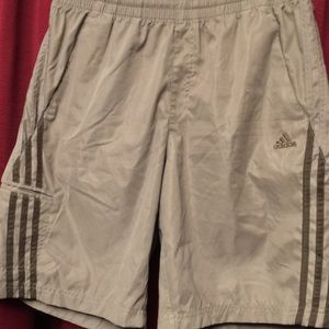 Adidas Shorts-Brown with Stripes-Medium